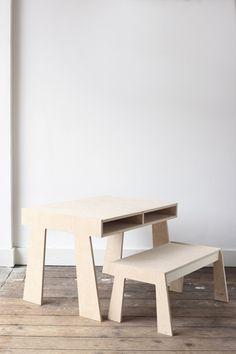 STEK kindermeubilair: Handgemaakte, stoere houten meubels, die lang meegaan. » STEK tafel en bank