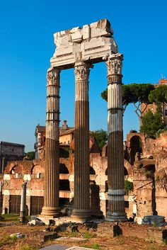 The Temple of Castor and Pollux, The Forum Rome, By Paul Williams