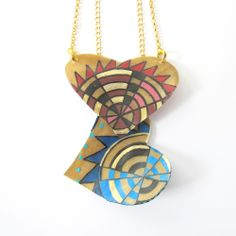 Parfleche Necklace available @ Beyond Buckskin Boutique,.. New Collection Coming soon 2015,.. HandPainted Elk Rawhide Cante Skuya Series $30-40.00