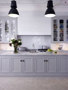 We adore a chic gray kitchen! http://www.stylemepretty.com/collection/2748/