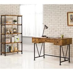 Mid Century Industrial Design Home Office Collection | Visit www.homedesignideas.eu for more inspiring images and decor inspirations