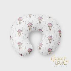 Nursing Pillow Cover  Floral Desert Skull  Arrows  by GRACEandCRUZ