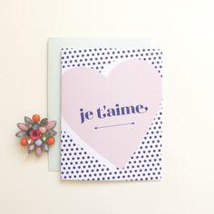 Je T'aime Heart Card