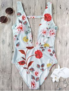 Up to 80% OFF + Free shipping on orders over $30. One Piece Plunging High Cut Floral Swimwear. Swimwear 2017:Zaful,Bikinis,Micro bikini,High waisted bikini,Halter bikini,Crochet bikini,One-pieces,Tankini set,Cover ups,to find different swimwear(bathing suit,swimsuits) ideas @zaful Extra 10% OFF Code:ZF2017