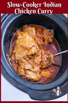 This slow cooker Indian chicken curry recipe aka crockpot chicken curry is a simple, easy and effortless recipe with only ten minutes of hands-on work and Crockpot Indian Recipes, Slow Cooker Recipes, Indian Food Recipes, Chicken Recipes, Slow Cooker Curry, Fast And Slow, Indian Chicken, Slow Cooking, Cooking Time