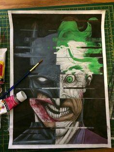 Batman/Joker Painting by Gregg Mason Art