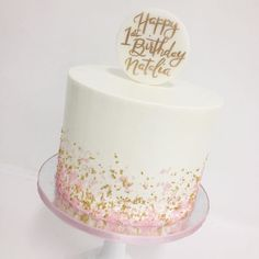 54 Ideas Birthday Cake For Girls Simple - birthday Cake Ideen 16th Birthday Cake For Girls, Birthday Cake For Women Simple, Sweet 16 Birthday Cake, 40th Birthday Cakes, 20th Birthday, Simple Birthday Cakes, 30th Cake, Teen Cakes, Cake Pops