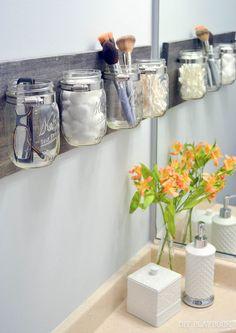 Comment créer des organisateurs salle de bain innovants avec des pots Mason? DIY