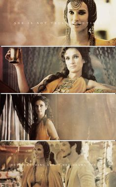 Ellaria Sand---get ready for some fabulous curls. I  could love Game of Thrones just for the hair and costumes.