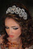 CC116-Dramatic filigree headband/crown encrusted with Swarovski Crystals