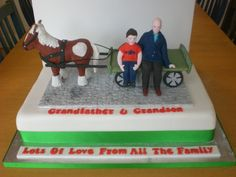 Horse and cart cake