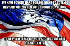 If one citizen can be denied their right to vote, no one's rights are safe.