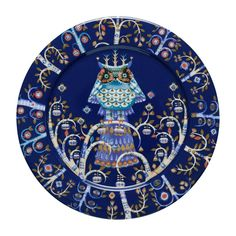 Iittala Taika Dinner Plate In Blue - Create a magical tablescape with Iittala's enchanting Taika Dinnerware Collection. Klaus Haapaniemi's bold, fantastical images on high-quality porcelain create an inspired look that will make any meal memorable.