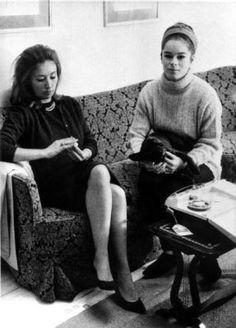 Oriana Fallaci con Geraldine Chaplin