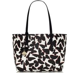 Fabulous New Kate Spade shoulder bag♠️ Kate Spade Hawthorne Lane Ryan in black/multi. Butterfly!!!! Gainy vinyl with smooth cowhide trim. Unlined. 14karat gold plated hardware. Gold foil embossed ksny signature and spade stud. Interior zip and double slide pockets. Shoulder bag with open top and dog clip closure. Measures: 10h X 12w X 6d. Stunning and fun piece kate spade Bags Shoulder Bags