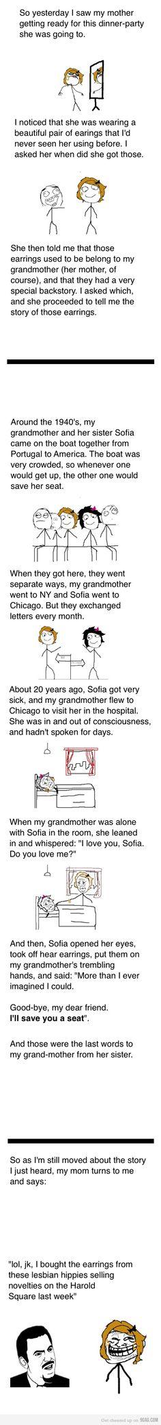 Hahahaha I definitely wasn't expecting that to happen!!!!