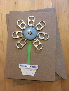 Flower Birthday Card by LizzieBoxCreates on Etsy https://www.etsy.com/uk/listing/515405204/flower-birthday-card