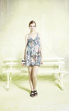 printed fierra y-back tank dress | Alice + Olivia | Dresses
