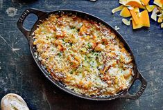 This butternut squash gratin is a simple, yet elegant autumn side dish. Perfect for Thanksgiving or Christmas. Thanksgiving Casserole, Thanksgiving Side Dishes, Thanksgiving Recipes, Mushroom Recipes, Vegetable Recipes, Mushroom Food, Side Dish Recipes, Butternut Squash, Cooking