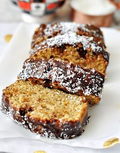 Vegan Sweet Coconut & Chia Seeds Loaf Cake