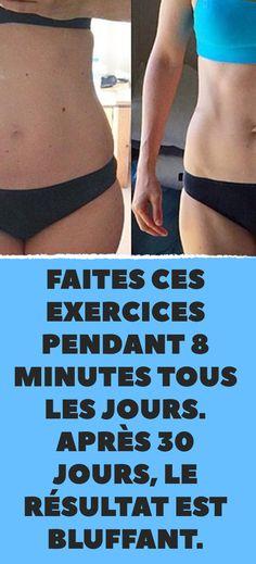 Faites ces exercices pendant 8 minutes tous les jours. Après 30 jours, le résultat est bluffant. Tabata, Physique, Yoga, Sayings, Sports, Exercises, Silhouette, Deco, Swimwear