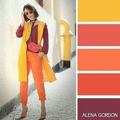 Color combinations for clothes, color combos, color schemes, elegant outfit Colour Combinations Fashion, Color Combinations For Clothes, Fashion Colours, Colorful Fashion, Color Combos, Color Schemes, Color Blocking Outfits, Color Harmony, Color Balance