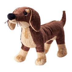 Stuffed Animal: Ikea Stuffed Animal Dog Puppy Plush Soft Toy Brown Smaslug 80260447 -- You can find more details by visiting the image link.