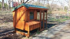 The 5x8 Nancy Quaker style chicken coop with run.  8 to 10 hens 5x4 Quaker coop 5x8 Chicken Run (including under coop)
