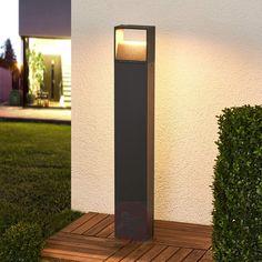 Mørk grå LED-veilampe Kjella-9955006-30