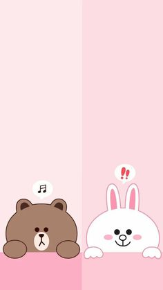 Bear and bunny wallpape samsung Cute Panda Wallpaper, Blue Wallpaper Iphone, Lines Wallpaper, Brown Wallpaper, Bear Wallpaper, Cute Disney Wallpaper, Kawaii Wallpaper, Cute Wallpaper Backgrounds, Galaxy Wallpaper