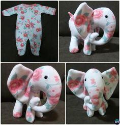 DIY Baby Onesie Memory Elephant Keepsake Tutorial Free Pattern