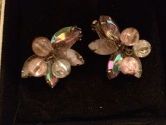 A personal favorite from my Etsy shop https://www.etsy.com/listing/229137617/gorgeous-pink-iridescent-vintage-clip-on