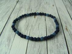 Armbänder - Sommer - Armband aus Lavaperlen blau türkis - ein Designerstück von buntezeiten bei DaWanda