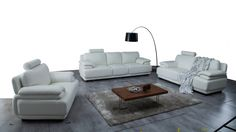 Juliet Leather Sofa Suite 3 + 2 + 1 - Lounge Life