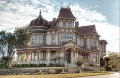 Amazing Victorian house in the City of Redlands, CA, surrounded by orange groves.