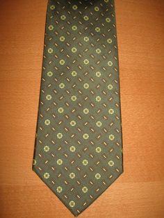 Zadi Andrew's Ties Milano Vintage Olive Green 100% Silk Necktie Tie Milano Italy…