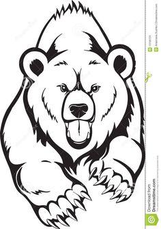 Grizzly Bear Head Outline grizzly bear head school art - bear pinterest grizzly ...