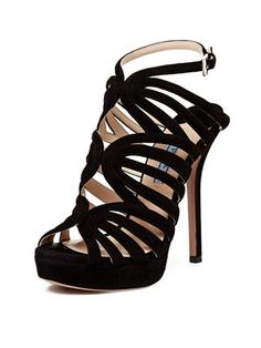 Prada suede cage platform sandal