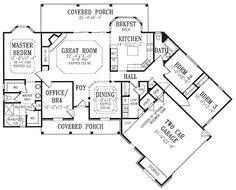 W3254   4 Bedroom Home, Large Master Suite, Home Office, Open Floor Plan,  Covered Deck | Covered Decks, Open Floor And Decking
