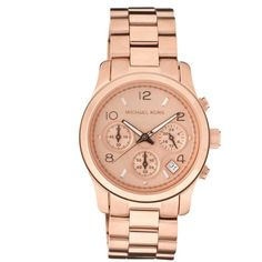 790222b8d8182 Michael Kors - chronograph with rose gold plating ($ 350) found on Polyvore