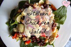 Creatively Delish | Italian Chickpea Salad | http://creativelydelish.com