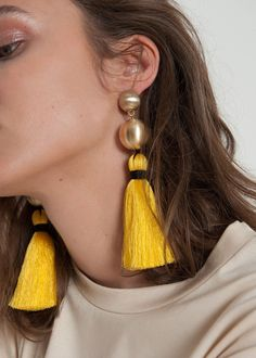 Brushed Gold Tassel Earrings – The Frankie Shop