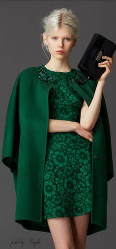 Ermanno Scervino Pre-fall 2014 - Ready-to-Wear Beauty And Fashion, Fashion Mode, Green Fashion, Passion For Fashion, Love Fashion, High Fashion, Womens Fashion, Fashion Design, Style Vert