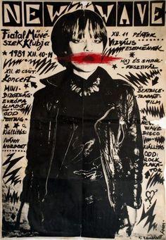 1979 - New Wave - DEVO, Blondie, Talking Heads, Klaus Nomi on segment on New Wave, 1979 Gig Poster, Collage Poster, Punk Poster, Concert Posters, Arte Punk, Punk Art, Album Design, Photo Rock, Dark Wave
