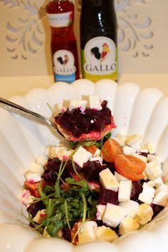 Beet root and orange salad