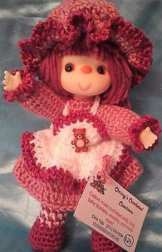 Adorable-Vintage-Style-10-Hand-Crocheted-Doll-Lil-Teddy-Bear