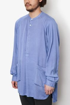 PAINTER PULLOVER LONG SHIRT LYOCELL CHINO CLOTH OVERDYED | SHIRTS | COVERCHORD