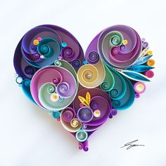 "Lovely quilling work - wish I had the patience! -- Quilled Paper Art: ""Can't help falling in love with you"" Neli Quilling, Paper Quilling Cards, Quilling Letters, Quilling Work, Paper Quilling Patterns, Origami And Quilling, Quilling Craft, Quilling Butterfly, Origami Paper"