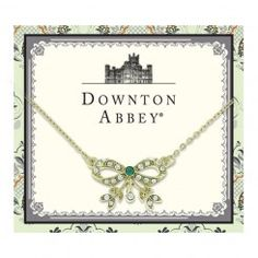 Lovely for Christmas - from 1928 Jewelry, of course. Downton Abbey® Gold-Tone Green Crystal Bow Necklace