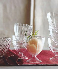 Evoke a bygone era of style and luxury with these charming Tula Coupe Glasses by Roost, from ShopNectar